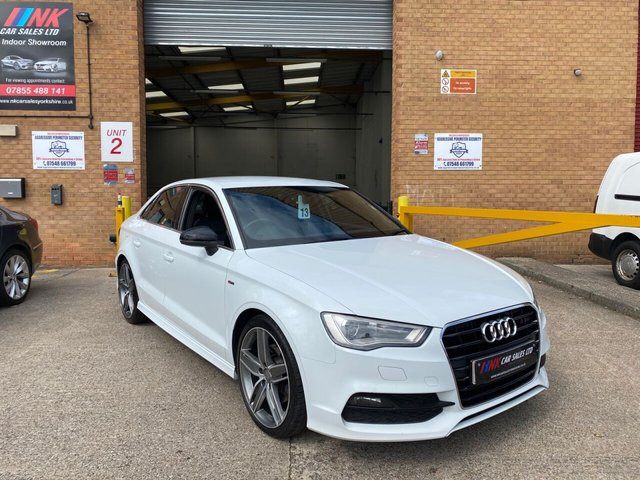 2015 15 AUDI A3 2.0 TDI S LINE 4d 184 BHP FULL BLACK LEATHERS  COMES WITH FULL AUDI HISTORY SOLD STEVE WEST FROM SHEFFIELD
