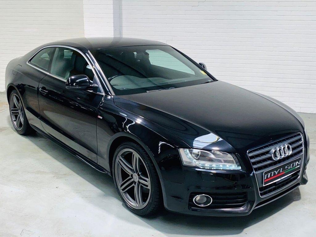 USED 2009 09 AUDI A5 2.0 TDI S LINE 2d 168 BHP B&O Audio, Black Leather, Heated Seats, 19in Granite Grey Wheels