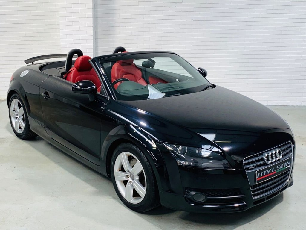 USED 2008 08 AUDI TT 2.0 TDI QUATTRO 2d 170 BHP Black with Full Red Leather Interior, Full Service History, Quattro Model