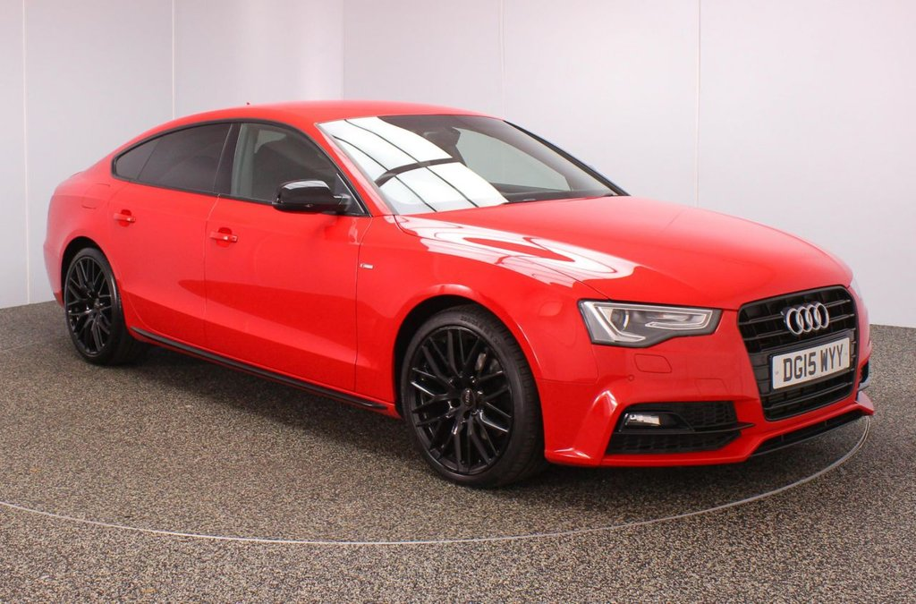 USED 2015 15 AUDI A5 2.0 SPORTBACK TDI BLACK EDITION PLUS 5DR 175 BHP FULL SERVICE HISTORY + £30 12 MONTHS ROAD TAX + HEATED LEATHER SEATS + SATELLITE NAVIGATION + PARKING SENSOR + BLUETOOTH + CRUISE CONTROL + CLIMATE CONTROL + MULTI FUNCTION WHEEL + BANG & OLUFSEN PREMIUM SPEAKERS + DAB RADIO + XENON HEADLIGHTS + PRIVACY GLASS + ELECTRIC WINDOWS + ELECTRIC/HEATED DOOR MIRRORS + 18 INCH ALLOY WHEELS