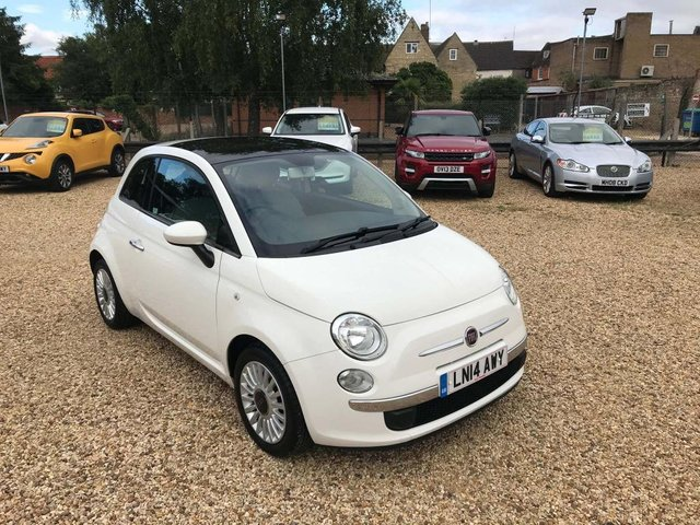 USED 2014 14 FIAT 500 1.2 Lounge 3dr £30 Road Tax, PanRoof & Aircon