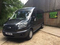 USED 2018 68 FORD TRANSIT 2.0 350 L3H2 DCB P/V 129 BHP 6 SEATER, AIR CON, L/W/B, EURO 6, 1 OWNER, EXCELLENT CONDITION
