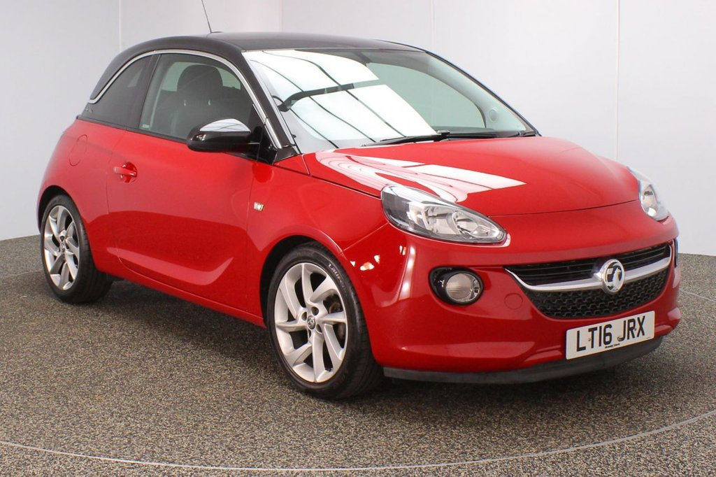 USED 2016 16 VAUXHALL ADAM 1.4 SLAM 3DR 85 BHP FULL SERVICE HISTORY + HALF LEATHER SEATS + PARKING SENSOR + BLUETOOTH + CRUISE CONTROL + CLIMATE CONTROL + MULTI FUNCTION WHEEL + PRIVACY GLASS + DAB RADIO + AUX/USB PORTS + ELECTRIC WINDOWS + ELECTRIC MIRRORS + 17 INCH ALLOY WHEELS