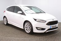 USED 2018 18 FORD FOCUS 1.0 ST-LINE 5DR 1 OWNER 139 BHP FULL FORD SERVICE HISTORY + SATELLITE NAVIGATION + BLUETOOTH + MULTI FUNCTION WHEEL + AIR CONDITIONING + DAB RADIO + RADIO/CD/AUX/USB + PRIVACY GLASS + ELECTRIC WINDOWS + ELECTRIC/HEATED DOOR MIRRORS + 18 INCH ALLOY WHEELS