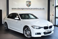 """USED 2016 65 BMW 3 SERIES 3.0 330D M SPORT 4DR AUTO 255 BHP Finished in a stunning alpine wjite styled with 19"""" alloys. Upon opening the drivers door you are presented with full leather interior, superb service history, pro satellite navigation, bluetooth, heated sport seats, cruise control, reversing camera, DAB radio, LED Fog lights, light package, Automatic air conditioning, rain sensors, parking sensors"""