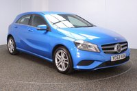 USED 2013 63 MERCEDES-BENZ A-CLASS 1.5 A180 CDI BLUEEFFICIENCY SPORT 5DR 109 BHP SERVICE HISTORY + £20 12 MONTHS ROAD TAX + HALF LEATHER SEATS + SATELLITE NAVIGATION + PARKING SENSOR + BLUETOOTH + CRUISE CONTROL + MULTI FUNCTION WHEEL + AIR CONDITIONING + RADIO/CD/AUX/USB + ELECTRIC WINDOWS + ELECTRIC MIRRORS + 17 INCH ALLOY WHEELS