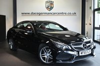 "USED 2015 65 MERCEDES-BENZ E-CLASS 3.0 E350 BLUETEC AMG LINE PREMIUM 2DR AUTO 255 BHP Finished in a stunning black styled with 18"" alloys. Upon opening the drivers door you are presented with full red leather interior, full service history, satellite navigation, bluetooth, harman/kardon speakers, reversing camera, heated seats with memory, cruise control, active park assist"