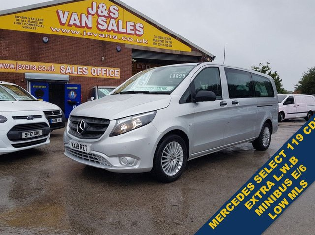 USED 2019 19 MERCEDES-BENZ VITO 119 BLUETEC TOURER SELECT 190 BHP MINIBUS MPV (((( LOTS MORE EURO 6 MINIBUSES ON SITE OVER 100 )))