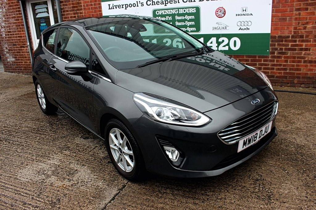 USED 2018 18 FORD FIESTA 1.0 ZETEC 3d 99 BHP +LOW MILES +APPLE CAR PLAY.
