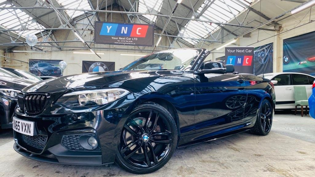 USED 2016 65 BMW 2 SERIES 2.0 220d M Sport Auto (s/s) 2dr PERFORMANCEKIT+BLACKPACK+LTHR!