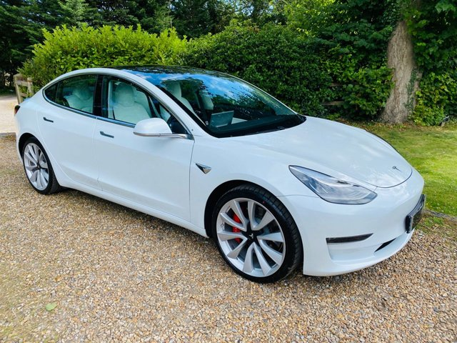 2019 69 TESLA model 3 0.0 PERFORMANCE AWD 4d 483 BHP