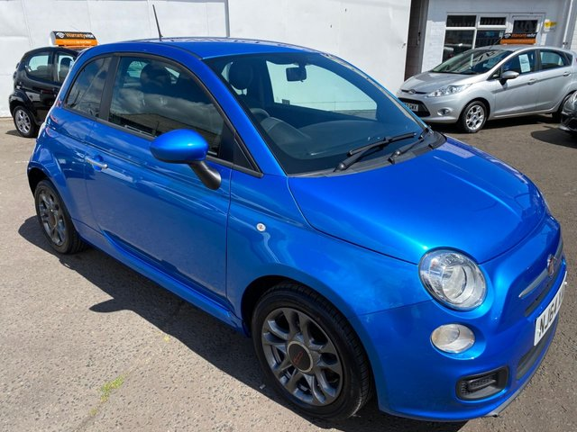 USED 2014 64 FIAT 500 1.2 S 3d 69 BHP CHEAP CAR LOW MILEAGE BLUETOOTH
