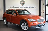 "USED 2013 63 BMW X1 2.0 XDRIVE18D XLINE 5DR 141 BHP Finished in a stunning valencia metallic orange styled with 18"" alloys. Upon opening the drivers door you are presented with full leather interior, full service history, bluetooth, heated seats, dab radio, Multifunction steering wheel, Driving experience switch incl. ECO PRO, Automatic air conditioning, parking sensors"