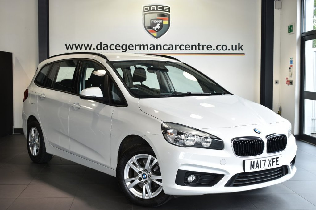 """USED 2017 17 BMW 2 Series GRAN TOURER 1.5 216D SE 5DR 114 BHP Finished in a stunning mineral metallic grey styled with 16"""" alloys. Upon opening the drivers door you are presented with anthraicte upholstery, full service history, satellite navigation, bluetooth, 7 seats, cruise control, DAB radio, Multifunction steering wheel, Performance Control, Automatic air conditioning, rain sensors,  Light package, parking sensors"""