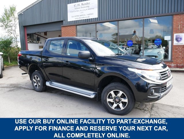 USED 2017 67 FIAT FULLBACK 2.4 SX DCB 152 BHP CLICK & COLLECT ONLINE AT C H RENDER.