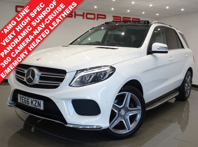 "USED 2017 66 MERCEDES-BENZ GLE-CLASS 3.0 GLE 350D V6 AMG LINE (PREMIUM) 4MATIC 9G-TRONIC..PAN ROOF PANROOF+20""+LEDS+TINTS+LEATHER+NAV+CRUIS+360 CAMERA"