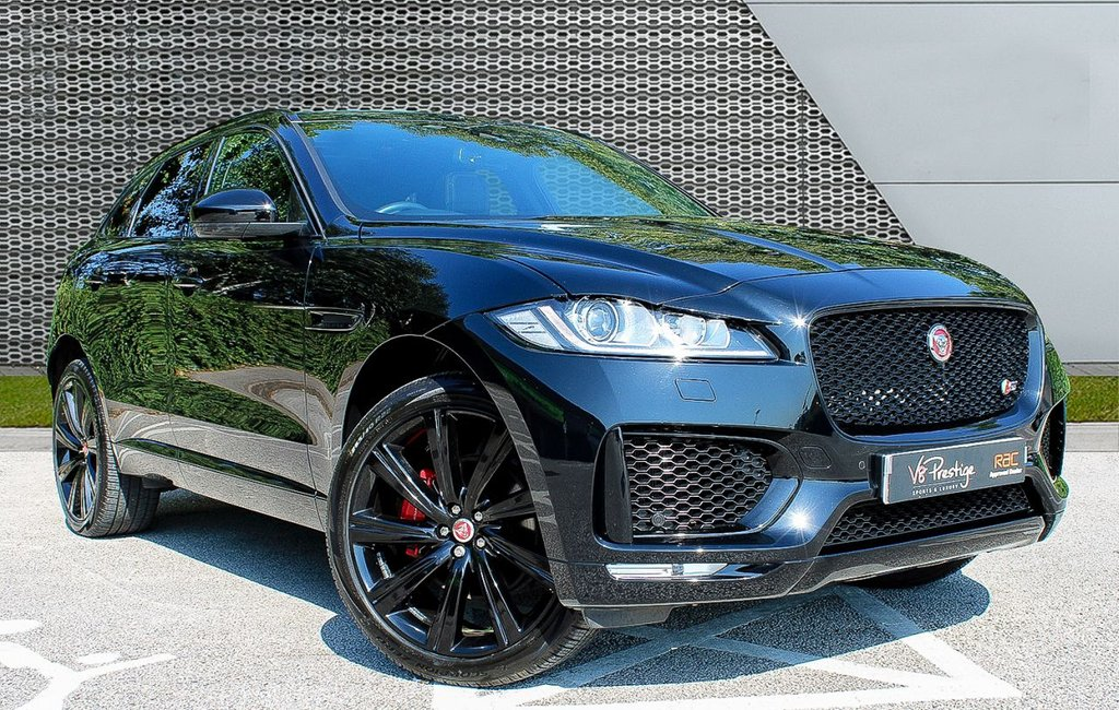 "USED 2016 66 JAGUAR F-PACE 3.0 V6 S AWD 5d 296 BHP *STEALTH/22"" ALLOYS/PAN ROOF*"