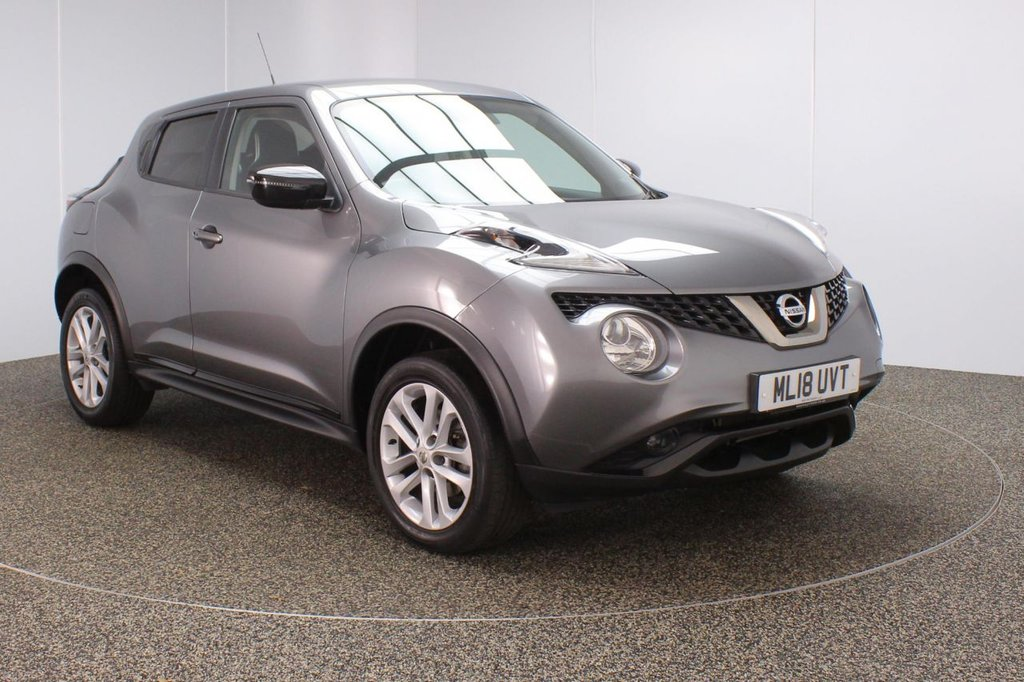 USED 2018 18 NISSAN JUKE 1.2 BOSE PERSONAL EDITION DIG-T 5DR 1 OWNER 115 BHP FULL NISSAN SERVICE HISTORY + HALF LEATHER SEATS + SATELLITE NAVIGATION + REVERSE CAMERA + BLUETOOTH + CRUISE CONTROL + CLIMATE CONTROL + MULTI FUNCTION WHEEL + BOSE PREMIUM SPEAKERS + DAB RADIO + PRIVACY GLASS + RADIO/CD/AUX/USB/SD + ELECTRIC WINDOWS + ELECTRIC MIRRORS + 17 INCH ALLOY WHEELS