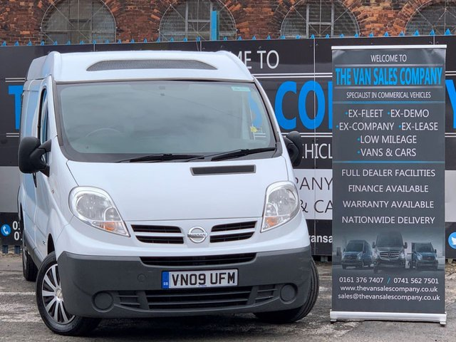 USED 2009 09 NISSAN PRIMASTAR 2.0 SE SWB DCI SHR 115 BHP NO VAT+FRIDGE VAN+LOW MILEAGE+HUGE SPEC+FINANCE AVAILABLE