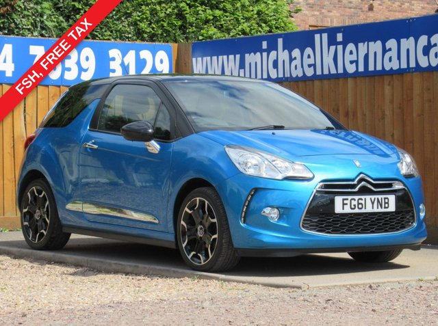 USED 2011 61 CITROEN DS3 1.6 E-HDI DSTYLE PLUS 3d 90 BHP LOVELY LITTLE CAR