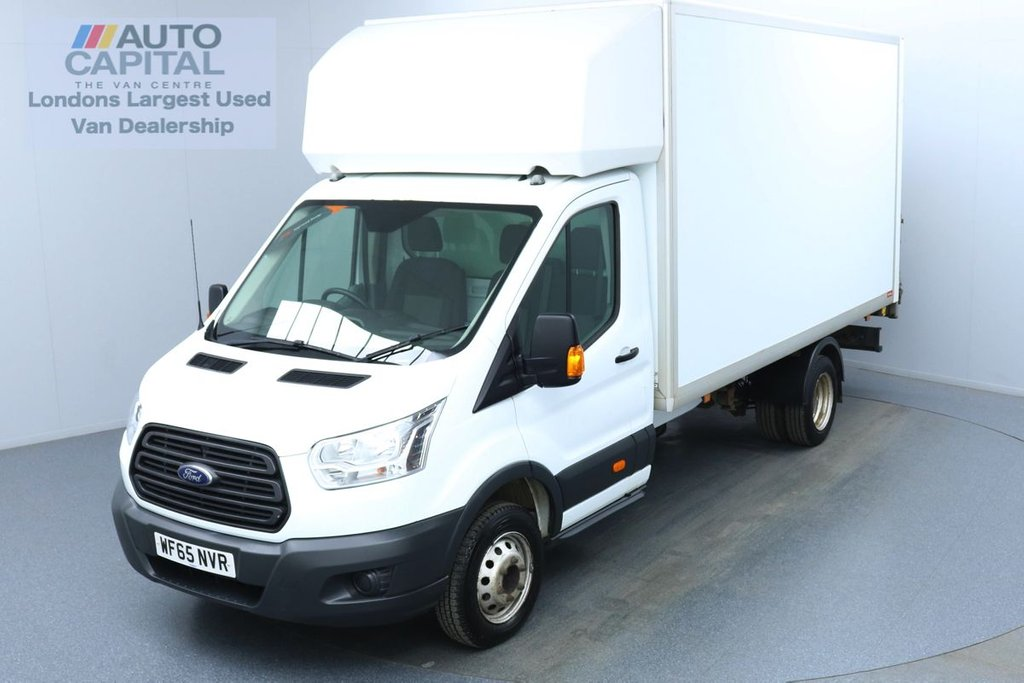USED 2015 65 FORD TRANSIT 2.2 350 RWD Twin Wheels L4 X-LWB 125 BHP Luton Van Finance Available Online   Rear Tail Lift Fitted   UK Delivery