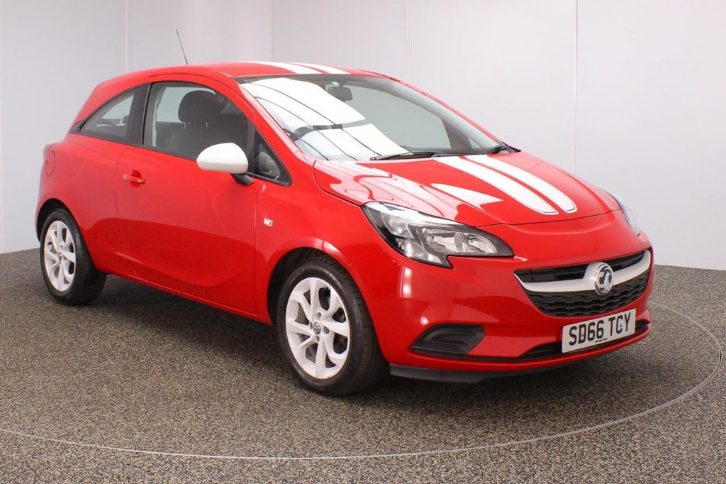 USED 2016 66 VAUXHALL CORSA 1.4 STING ECOFLEX 3DR 74 BHP FULL SERVICE HISTORY + £30 12 MONTHS ROAD TAX + BLUETOOTH + CRUISE CONTROL + MULTI FUNCTION WHEEL + RADIO/AUX/USB + ELECTRIC WINDOWS + ELECTRIC MIRRORS + 16 INCH ALLOY WHEELS