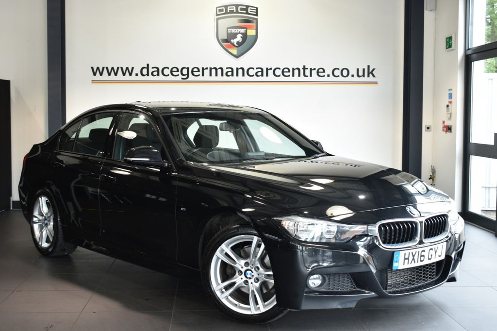 """USED 2016 16 BMW 3 SERIES 2.0 320D M SPORT 4DR 188 BHP Finished in a stunning sapphire metallic black styled with 18"""" alloys. Upon opening the drivers door you are presented with anthracite upholstery, full service history, satellite navigation, bluetooth, cruise control, DAB radio, sport seats, Automatic air conditioning, light package, rain sensors, LED Fog lights, parking sensors"""