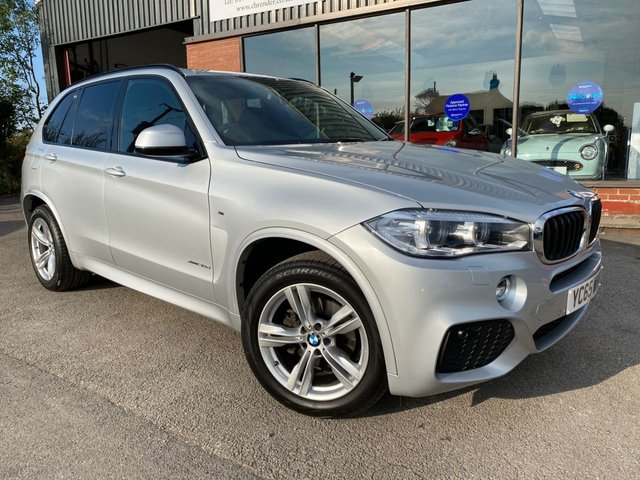USED 2015 65 BMW X5 3.0 XDRIVE30D M SPORT 5d 255 BHP Black leather, Heated front seats, Satellite navigation, Electric tailgate
