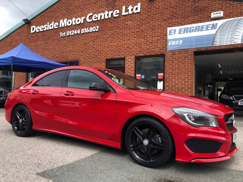 USED 2013 63 MERCEDES-BENZ CLA 2.1 CLA220 CDI AMG SPORT 4d 170 BHP Front and Reverse parking Sensors