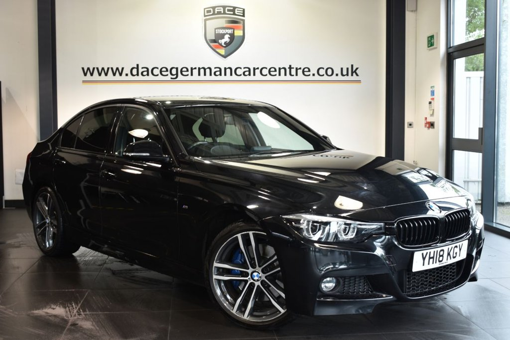 "USED 2018 18 BMW 3 SERIES 2.0 320I M SPORT SHADOW EDITION 4DR AUTO 181 BHP Finished in a stunning sapphire metallic black styled with 19"" alloys. Upon opening the drivers door you are presented with full leather interior, satellite navigation, bluetooth, cruise control, DAB radio, heated sport seats, Automatic air conditioning, rain sensors, LED headlight, LED Fog lights, Harman/Kardon surround sound system, parking sensors"