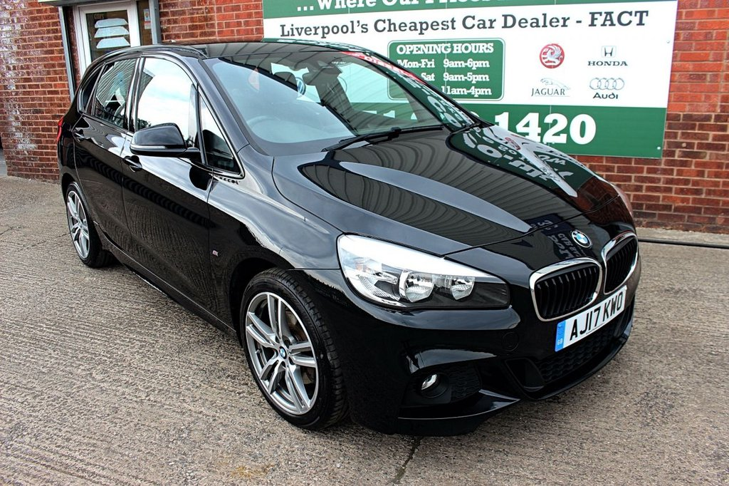 USED 2017 17 BMW 2 SERIES 2.0 220D M SPORT ACTIVE TOURER 5d 188 BHP +ONE OWNER +LEATHER +SAT NAV.