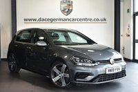 """USED 2018 18 VOLKSWAGEN GOLF 2.0 R TSI 5DR 306 BHP Finished in a stunning metallic grey styled with 18"""" alloys. Upon opening the drivers door you are presented with cloth upholstery, full service history, satellite navigation, bluetooth, virtual cockpit, heated sport seats, winter package, xenon lights, adaptive cruise control, climate control, heated electric folding mirrors, parking sensors"""