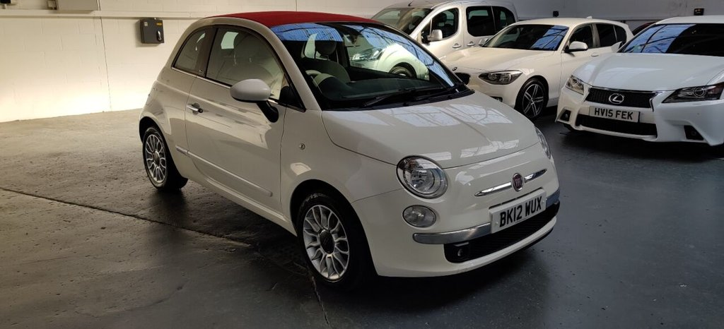 USED 2012 12 FIAT 500 1.2 C LOUNGE 3d 69 BHP