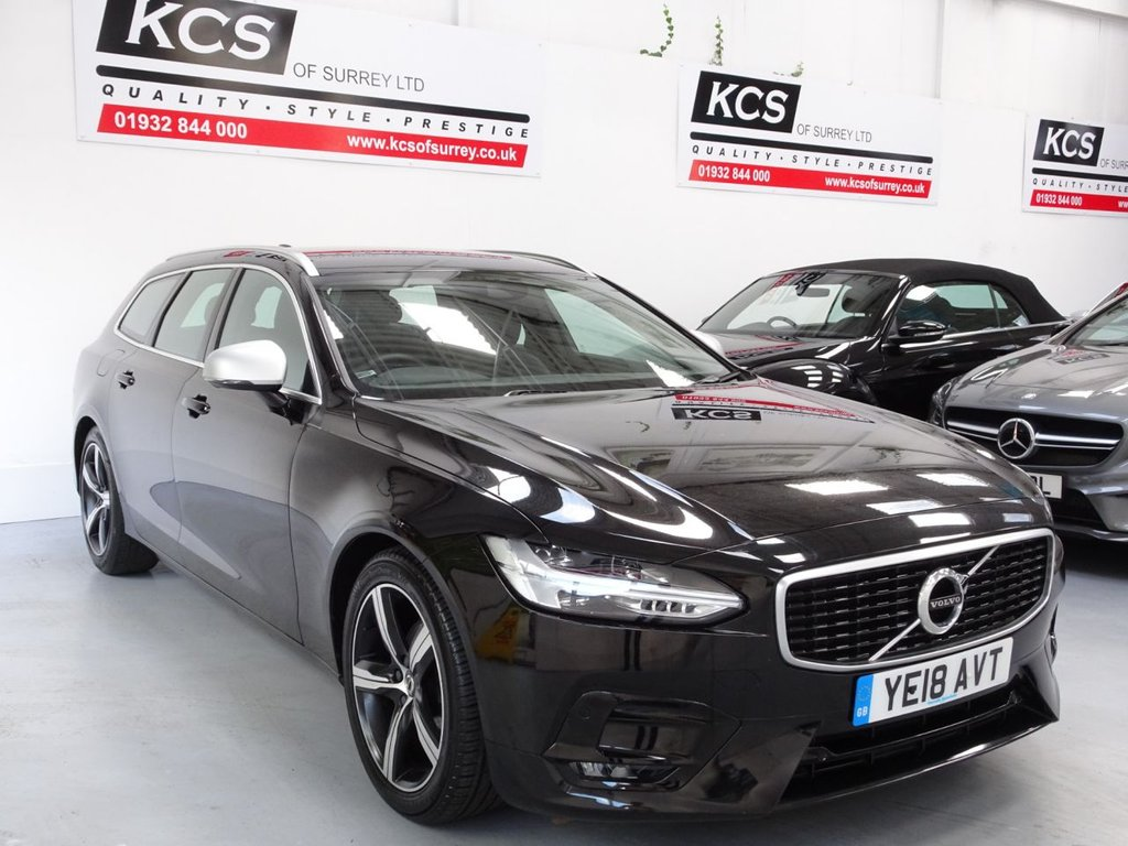 USED 2018 18 VOLVO V90 2.0 D4 R-DESIGN 5d 188 BHP SAT NAV - HTD SEATS -BLUETOOTH