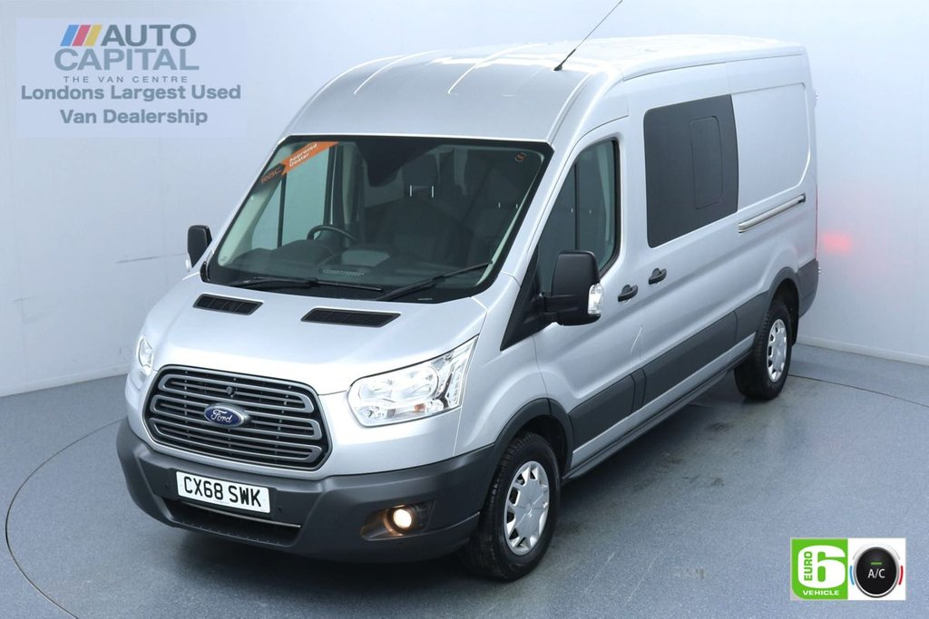 USED 2018 68 FORD TRANSIT 2.0 350 Trend L3 H2 130 BHP 6 Seats Combi Euro 6 Low Emission Air Con | F-R Parking Sensors | 6 seats | Foldable Mirrors | Cruise Control | Bluetooth/ SYNC/ Cd Player