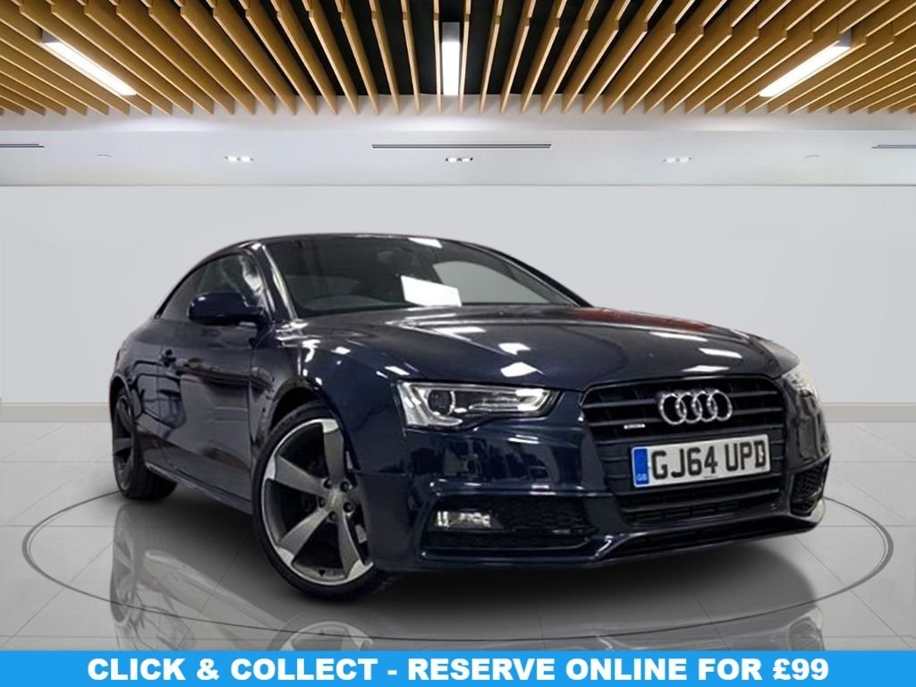"USED 2014 64 AUDI A5 2.0 TDI QUATTRO S LINE S/S 2d 174 BHP Navigation System, Leather Seats, 20"" Alloys Wheels, Parking Sensor(s), Climate Control"