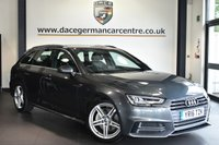 """USED 2016 16 AUDI A4 AVANT 2.0 TDI S LINE 5DR AUTO 188 BHP Finished in a stunning daytona metallic grey styled with 18"""" alloys. Upon opening the drivers door you are presented with half leather interior, audi service history, satellite navigation, bluetooth, sport seats, cruise control, DAB radio, climate control, multi functional steering wheel, heated mirrors, parking sensors"""