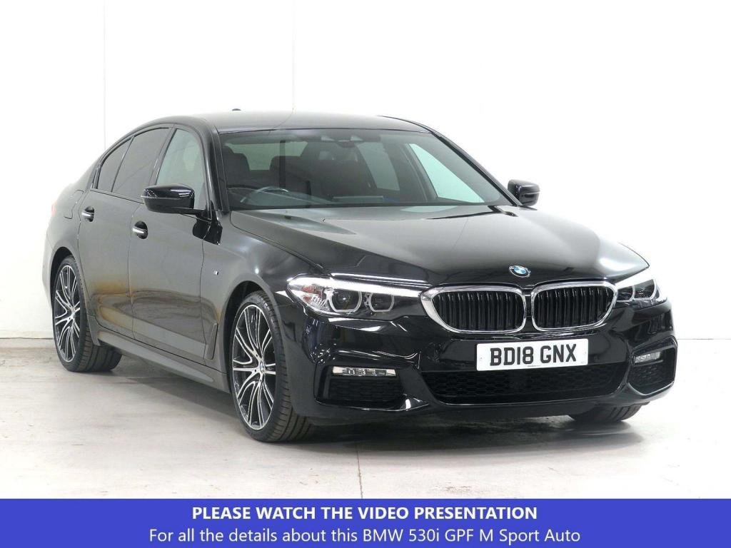 USED 2018 18 BMW 5 SERIES 2.0 530i GPF M Sport Auto (s/s) 4dr £2,190 EXTRAS**PLUS-PACK*VAT-Q