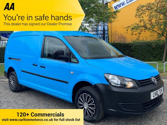 2015 15 VOLKSWAGEN CADDY MAXI C20 TDI STARTLINE 101 bhp Twin Side Doors Air Con