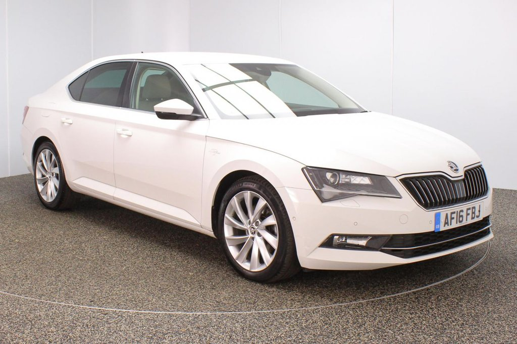 USED 2016 16 SKODA SUPERB 2.0 LAURIN AND KLEMENT TDI DSG 5DR 1 OWNER AUTO 148 BHP SERVICE HISTORY + £30 12 MONTHS ROAD TAX + HEATED FRONT/REAR LEATHER SEATS + SATELLITE NAVIGATION + ACTIVE PARK ASSIST + PARKING SENSOR + BLUETOOTH + CRUISE CONTROL + CLIMATE CONTROL + MULTI FUNCTION WHEEL + CANTON PREMIUM SPEAKERS + COLUMBUS TV TUNER + LANE ASSIST SYSTEM + XENON HEADLIGHTS + PRIVACY GLASS + ELECTRIC/MEMORY FRONT SEATS + DAB RADIO + MIRROR LINK + SKODA DRIVING MODE SELECTION + ELECTRIC WINDOWS + ELECTRIC/HEATED/FOLDING DOOR MIRRORS + 18 INCH ALLOY WHEELS
