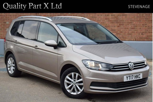 USED 2017 17 VOLKSWAGEN TOURAN 1.6 TDI BlueMotion Tech SE DSG (s/s) 5dr 7 SEAT, BLUETOOTH, SENSORS