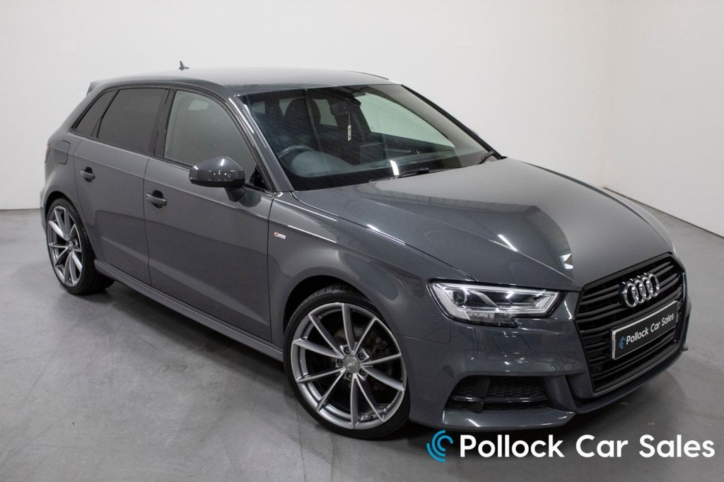 USED 2017 17 AUDI A3 2.0 TDI S LINE 5d 148 BHP Nano Grey, Keyless entry/start, tech pack, B&O sound system