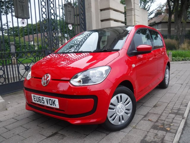 USED 2015 65 VOLKSWAGEN UP 1.0 MOVE UP 5d 59 BHP FINANCE ARRANGED**PART EXCHANGE WELCOME**£20 TAX**FULL SH**CRUISE**DAB**AUX**A/C**ELEC OPENING SUN ROOF