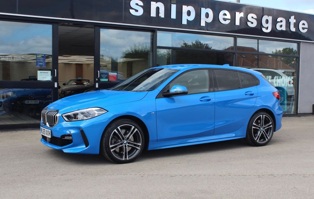 USED 2019 69 BMW 1 SERIES 2.0 120D XDRIVE M SPORT 5d 188 BHP Misano Blue Metallic 120d XDRIVE 4x4, Perforated Dakota Black Leather, Satellite Navigation, Heated Seats, Tyre Pressure Display, Bluetooth Phone, Electric Folding Mirrors, M Sports Package, Luggage Compartment Package, Sun Protection Glazing, Auto Dip Mirrors, Sports Seats, Park Distance Control From and Rear, Cruise Control With Brake Function, Light Package, LED Headlights, DAB Tuner, High Gloss Shadow Line, Multi Function Steering Wheel, 2Keys and Book Pack, Balance Of Manufactures Warranty.