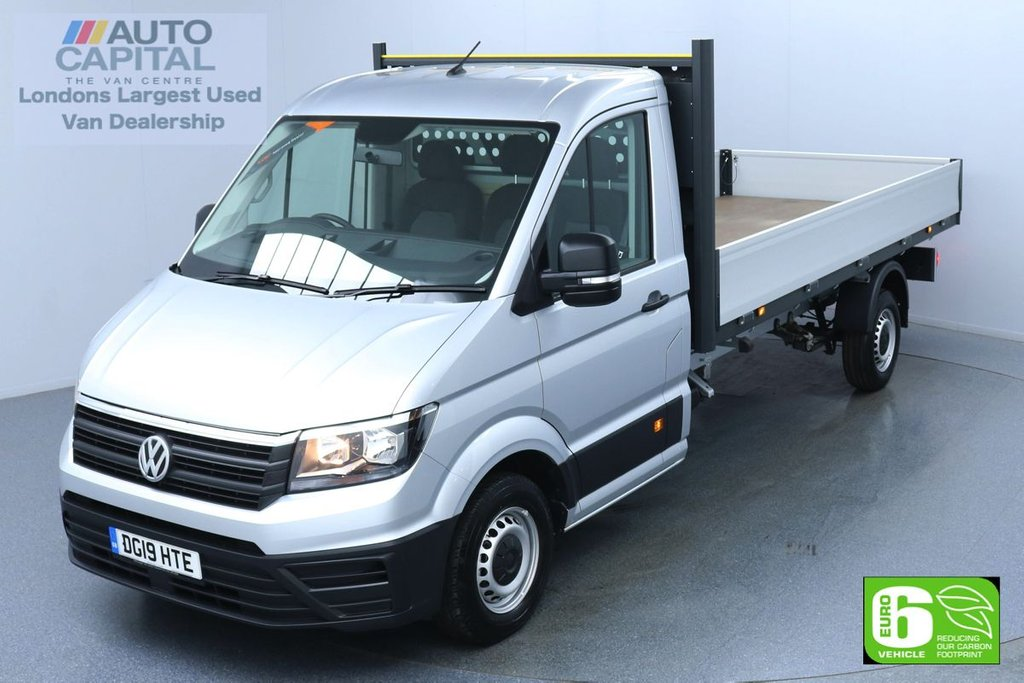 USED 2019 19 VOLKSWAGEN CRAFTER 2.0 CR35 STARTLINE 101 BHP XLWB Dropside Low Emission Finance Available Online | Fully Sanitised | UK Delivery
