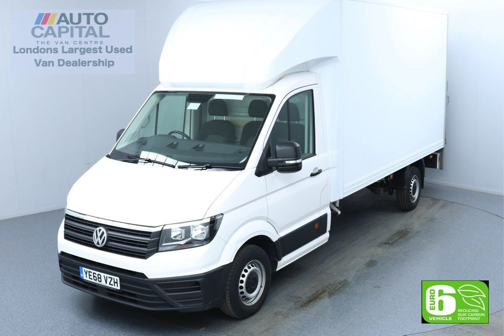USED 2018 68 VOLKSWAGEN CRAFTER 2.0 CR35 TDI Startline LWB 140 BHP Low Emission Luton Van Finance Available Online | Rear Tail Lift Fitted | UK Delivery