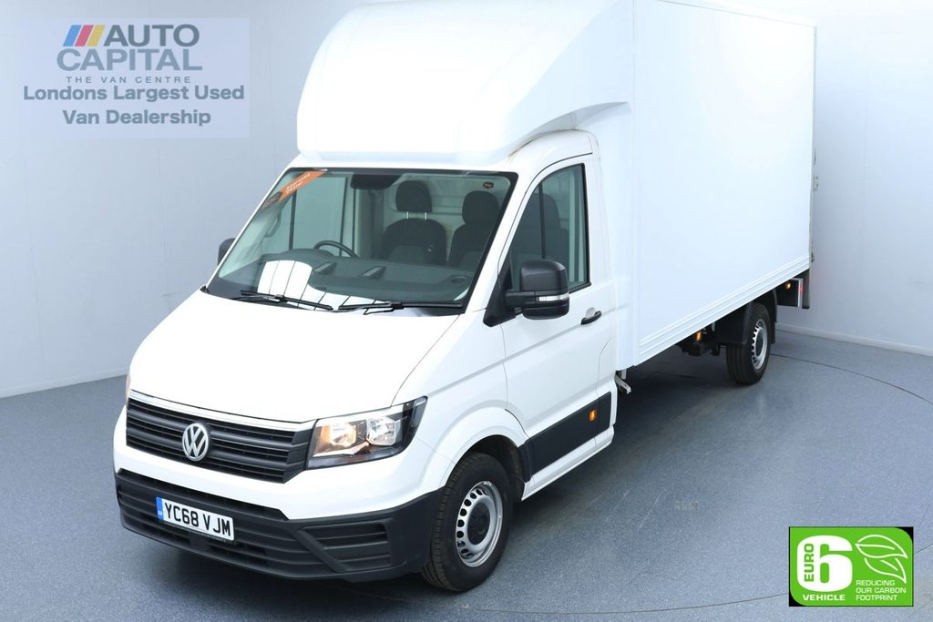 USED 2018 68 VOLKSWAGEN CRAFTER 2.0 CR35 TDI Startline LWB 140 BHP Low Emission Luton Van New Engine Replaced | Rear Tail Lift Fitted | UK Delivery