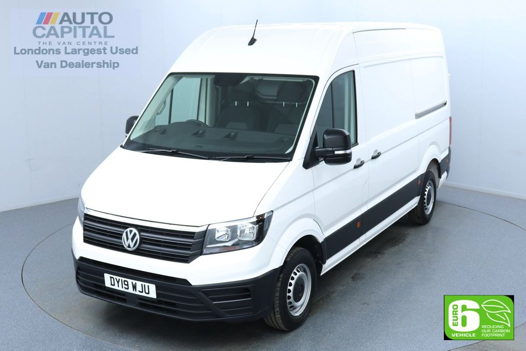 USED 2019 19 VOLKSWAGEN CRAFTER 2.0 CR35 TDI RWD Startline MWB 140 BHP Euro 6 Low Emission Finance Available Online | Fully Sanitised Service | UK Delivery