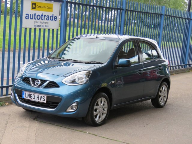 USED 2013 63 NISSAN MICRA 1.2 ACENTA 5d 79 BHP Sat Nav & 1 Lady Owner From New