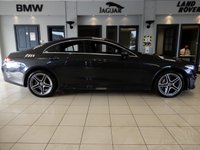 """USED 2019 19 MERCEDES-BENZ CLS CLASS 2.9 CLS 400 D 4MATIC AMG LINE 4d AUTO 336 BHP FINISHED IN STUNNING METALLIC GREY WITH CONTRASTING FULL BLACK HEATED SEATS WITH ELECTRIC ADJUSTMENT + 1 OWNER FROM NEW IN SHOWROOM CONDITION + PEACE OF MIND WITH MANUFACTURERS WARRENTY UNTIL 2022 + VIRTUAL COCKPIT + COMMAND SATELLITE NAVIGATION + AMBIENT LIGHTING PACKAGE + APPLE CARPLAY/ANDROID AUTO + BLUETOOTH MEDIA WITH IN CAR ENTERTAINMENT + COLLISON ALERT SYSTEM + PRE COLLISON SENSORS + 18"""" DIAMOND CUT UNMARKED ALLOY WHEELS + ADAPTIVE HEADLIGHTS WITH LED DAYTIME RUNNING LEDS + ADAPTIVE CRUI"""